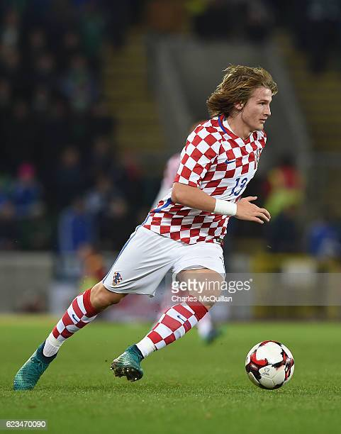 Tin Jedvaj of Croatia during the international friendly fixture between Northern Ireland and Croatia at Windsor Park on November 15 2016 in Belfast...