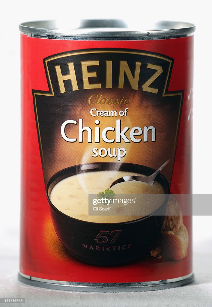 A tin of H.J. Heinz Co. Chicken Soup on February 15, 2013 in London, England. Billionaire investor Warren Buffett's Berkshire Hathaway is is teaming up with the Brazilian investment group 3G Capital to buy H.J. Heinz Co. for 23.3 billion USD.