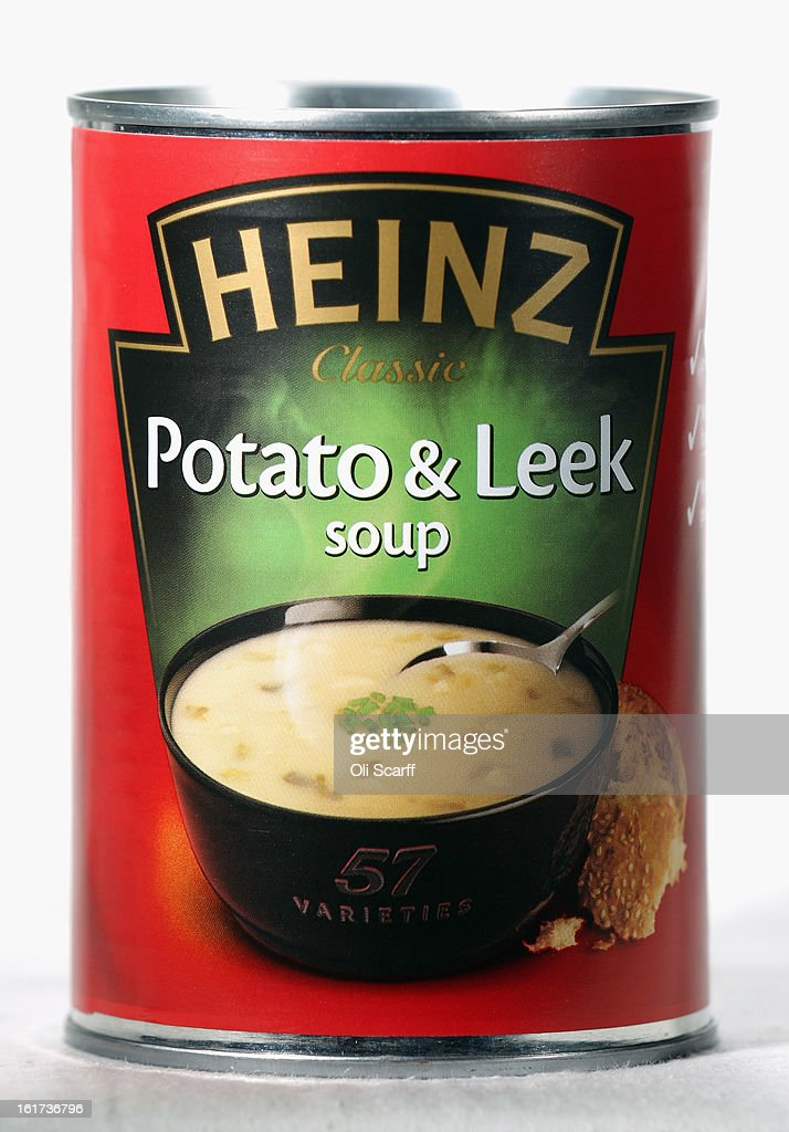 A tin of H.J. Heinz Co. Potato and Leek Soup on February 15, 2013 in London, England. Billionaire investor Warren Buffett's Berkshire Hathaway is is teaming up with the Brazilian investment group 3G Capital to buy H.J. Heinz Co. for 23.3 billion USD.