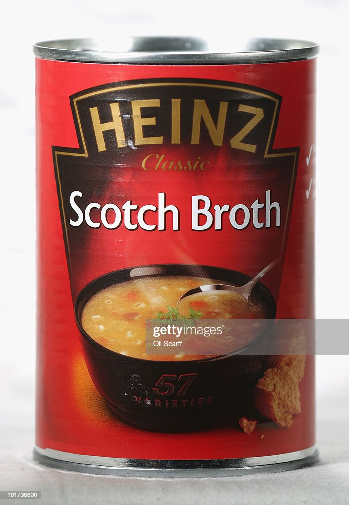 A tin of H.J. Heinz Co. Scotch Broth on February 15, 2013 in London, England. Billionaire investor Warren Buffett's Berkshire Hathaway is is teaming up with the Brazilian investment group 3G Capital to buy H.J. Heinz Co. for 23.3 billion USD.