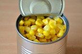 Tin of sweet corn