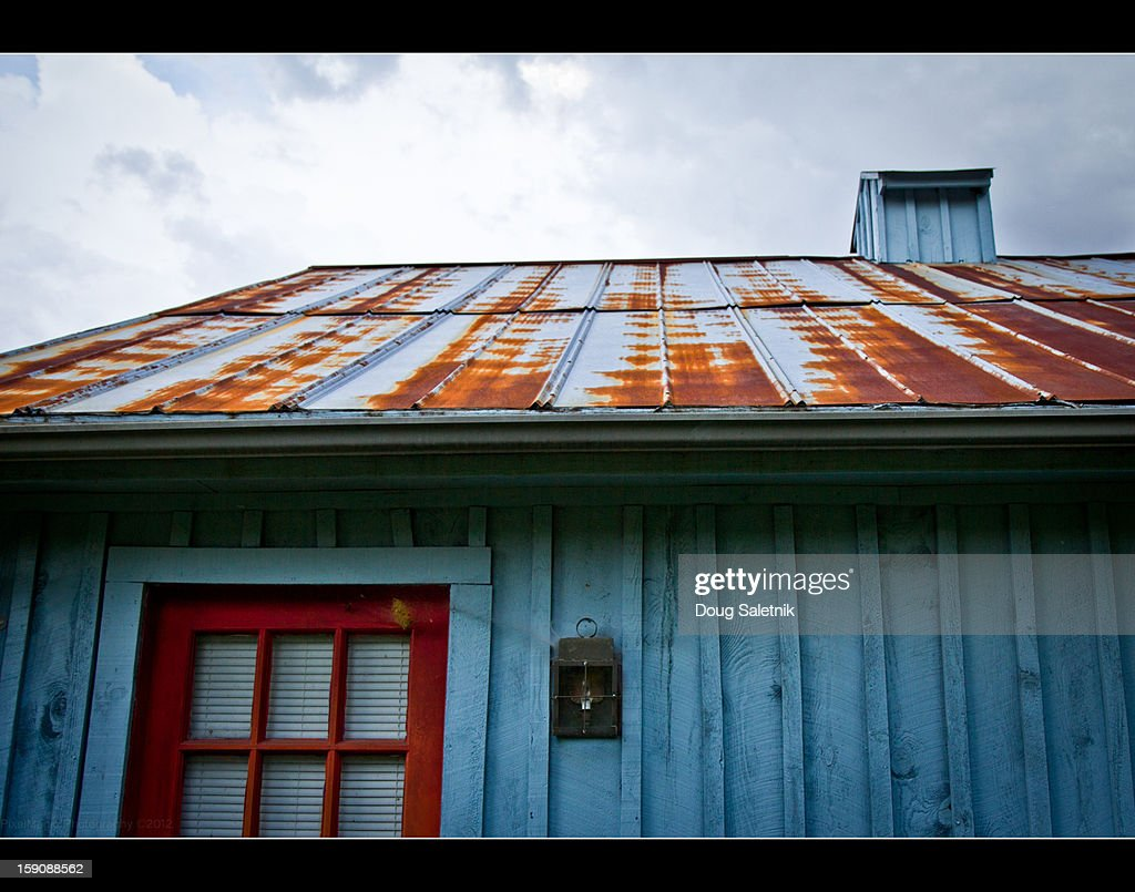 Tin Roof Rusted Stock Photo Getty Images