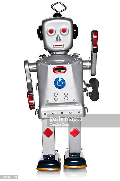 Tin toy clockwork robot