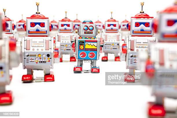 Tin Spielzeug-Roboter-die