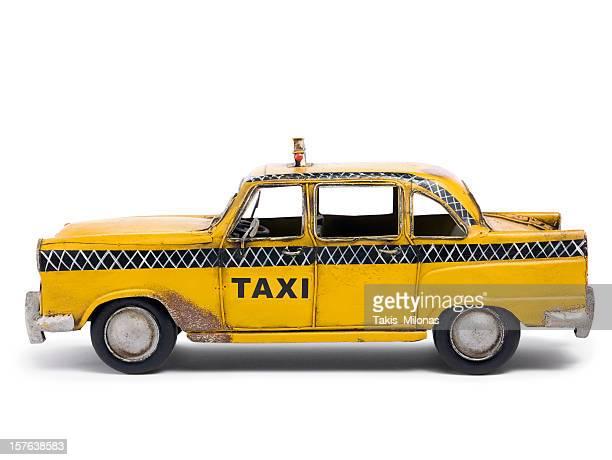 Tin toy taxi car