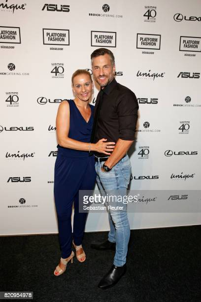 Tina and Stefan Bockelmann attend the Unique show during Platform Fashion July 2017 at Areal Boehler on July 22 2017 in Duesseldorf Germany