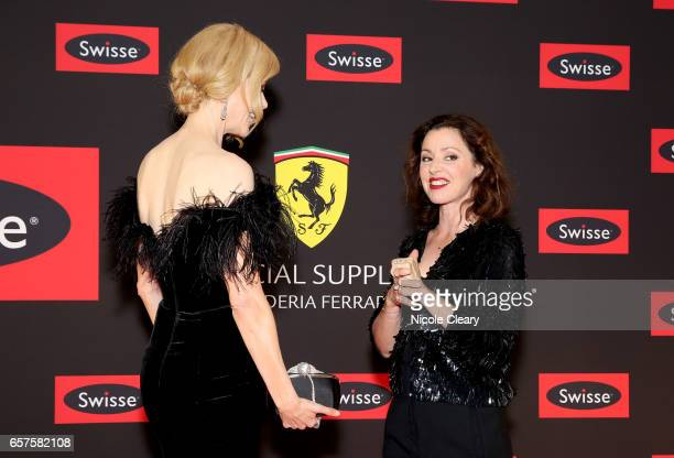 Tina Arena and Nicole Kidman arrive ahead of the Swisse Wellness 'Power Your Passion' Event on March 25 2017 in Melbourne Australia