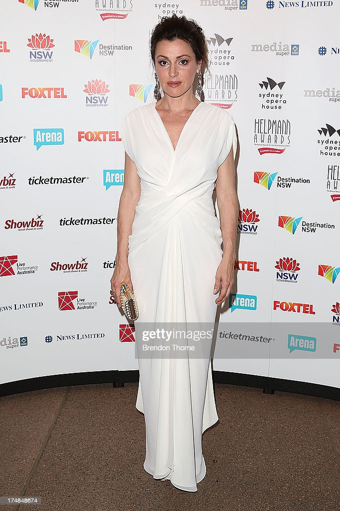 Tina Arena arrives at the 2013 Helpmann Awards at the Sydney Opera House on July 29, 2013 in Sydney, Australia.