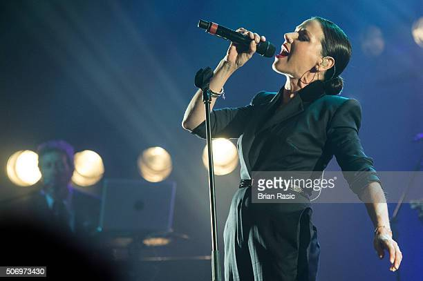 Tina Arena performs at O2 Forum Kentish Town on January 26 2016 in London England