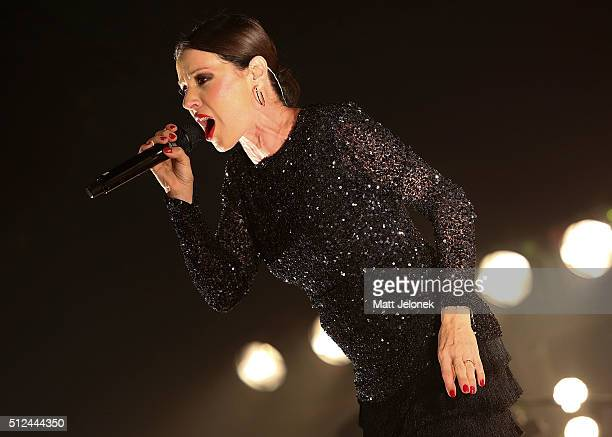 Tina Arena performs in concert at the Perth Concert Hall on February 26 2016 in Perth Australia