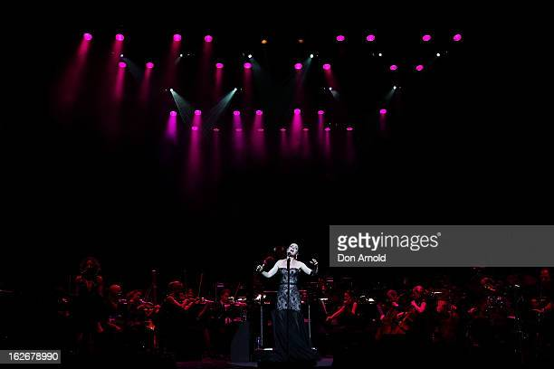 Tina Arena performs live for fans at the State Theatre on February 26 2013 in Sydney Australia