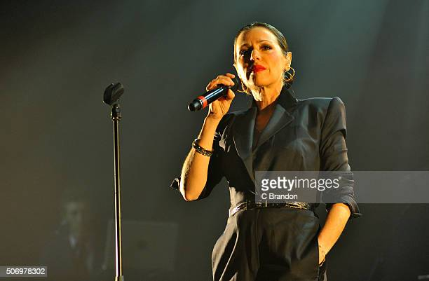 Tina Arena performs on stage at the O2 Forum Kentish Town on January 26 2016 in London England