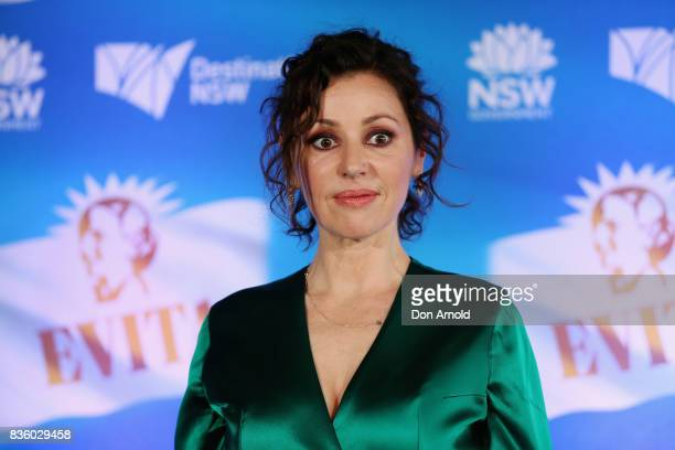 Tina Arena poses during the cast announcement for the upcoming production of EVITA at Sydney Opera House on August 21 2017 in Sydney Australia