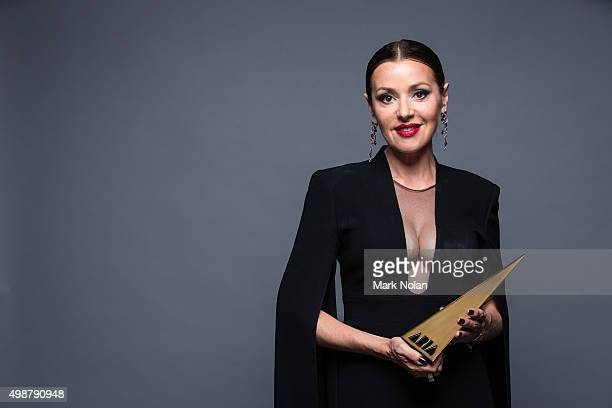 Tina Arena poses for a portrait with an ARIA after being inducted into the ARIA Hall of Fame during the 29th Annual ARIA Awards 2015 at The Star on...