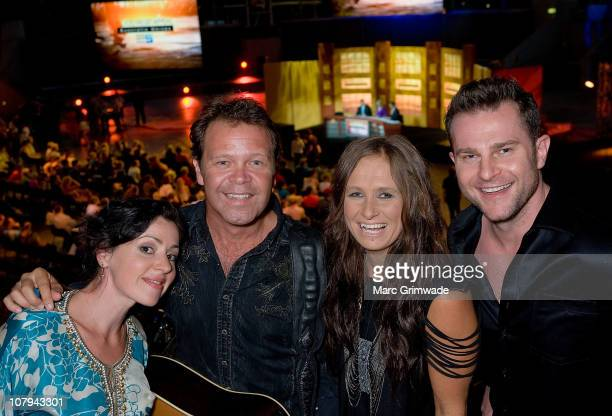 Tina Arena Troy CasserDaly Kasey Chambers and David Campbell at the Channel Nine And Daily Telegraph telethon appeal for Queensland flood victims on...