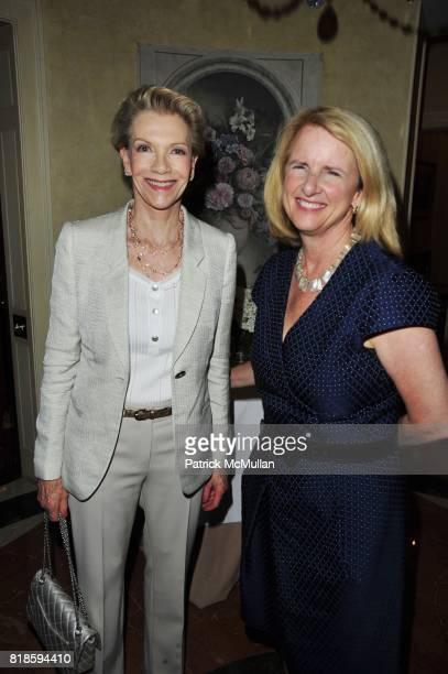 Tina Bilotti and Anne McNutley attend Dinner party to celebrate The Child Mind Institute's 2010 Adam Jeffrey Katz Memorial Lecture Series at The home...