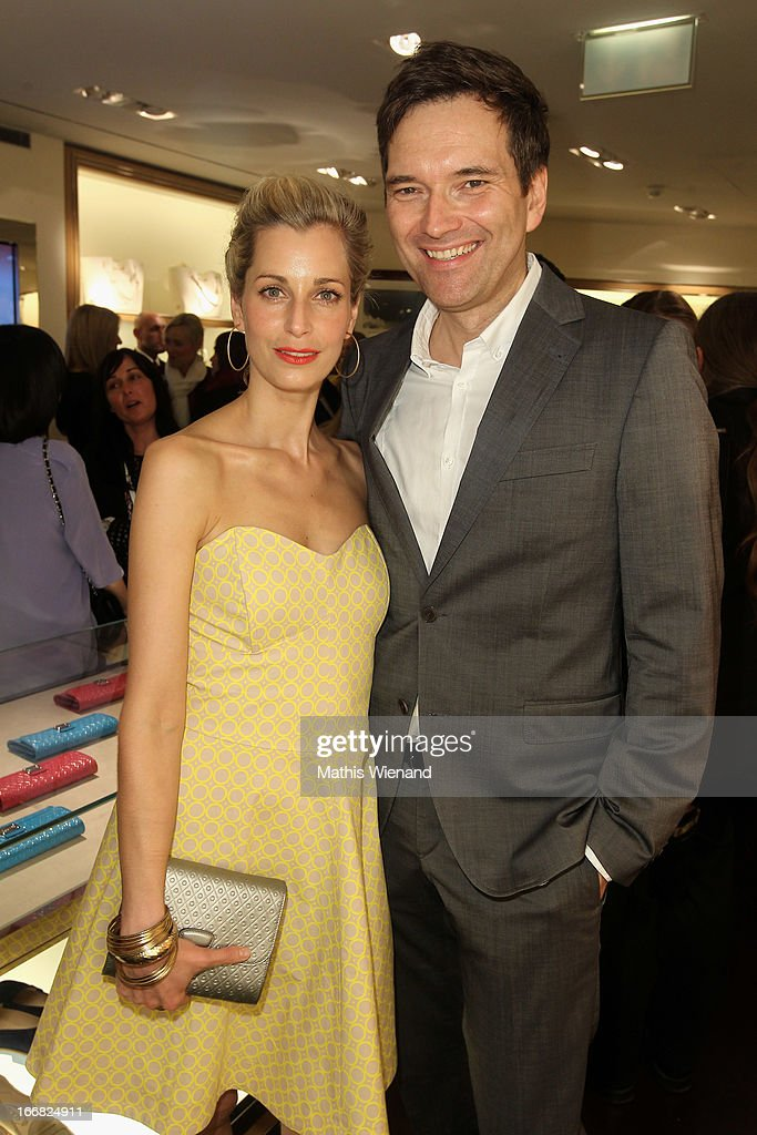 Tina Bordihn and Ingo Nommsen attend Tod's D.D. Bag Collection Presentation at Tod's Store at Koenigsalle 12 on April 17, 2013 in Duesseldorf, Germany.