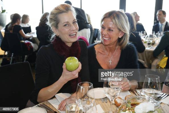 Tina Bordihn and Michaela Hunold attend the Lanserhof Ladies Lunch at Hyatt Regency Dusseldorf on January 30 2014 in Dusseldorf Germany