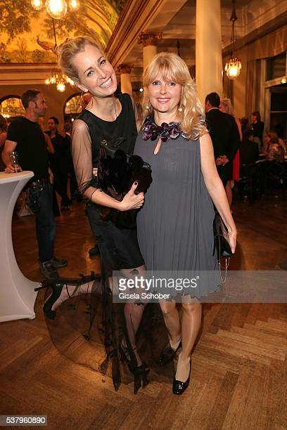 Tina Bordihn and Roswitha Schreiner during the Bayerischer Fernsehpreis 2016 at Prinzregententheater on June 3 2016 in Munich Germany