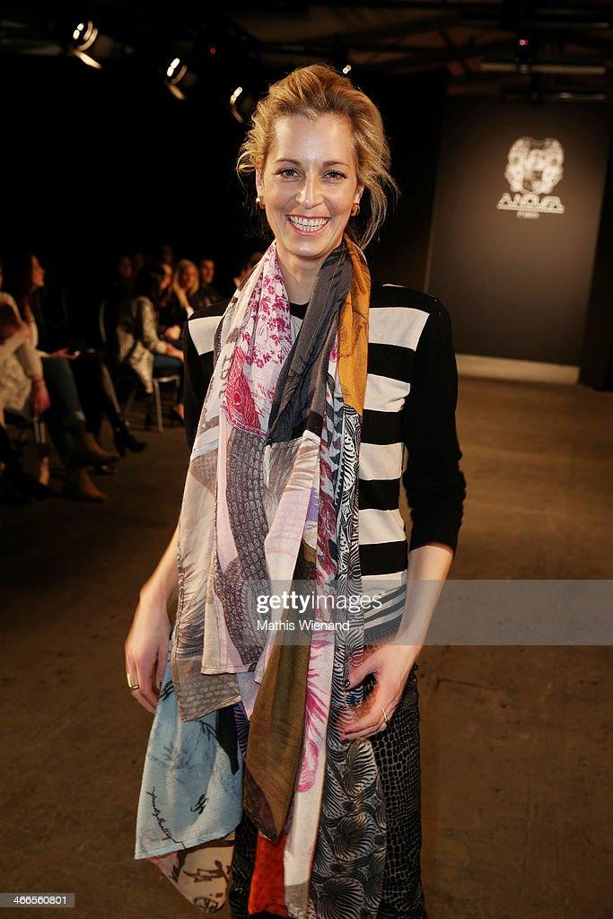 Tina Bordihn attends the Maison Anoufa fashion show during Platform Fashion Dusseldorf on February 2, 2014 in Dusseldorf, Germany.