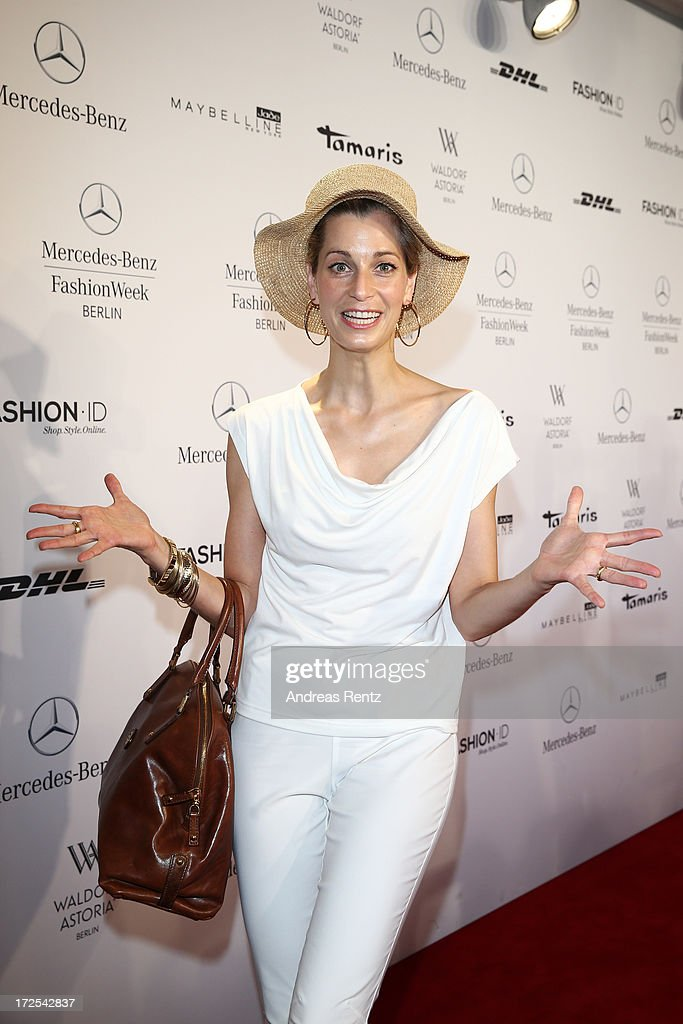 Tina Bordihn attends the Minx By Eva Lutz show during Mercedes-Benz Fashion Week Spring/Summer 2014 at Brandenburg Gate on July 3, 2013 in Berlin, Germany.