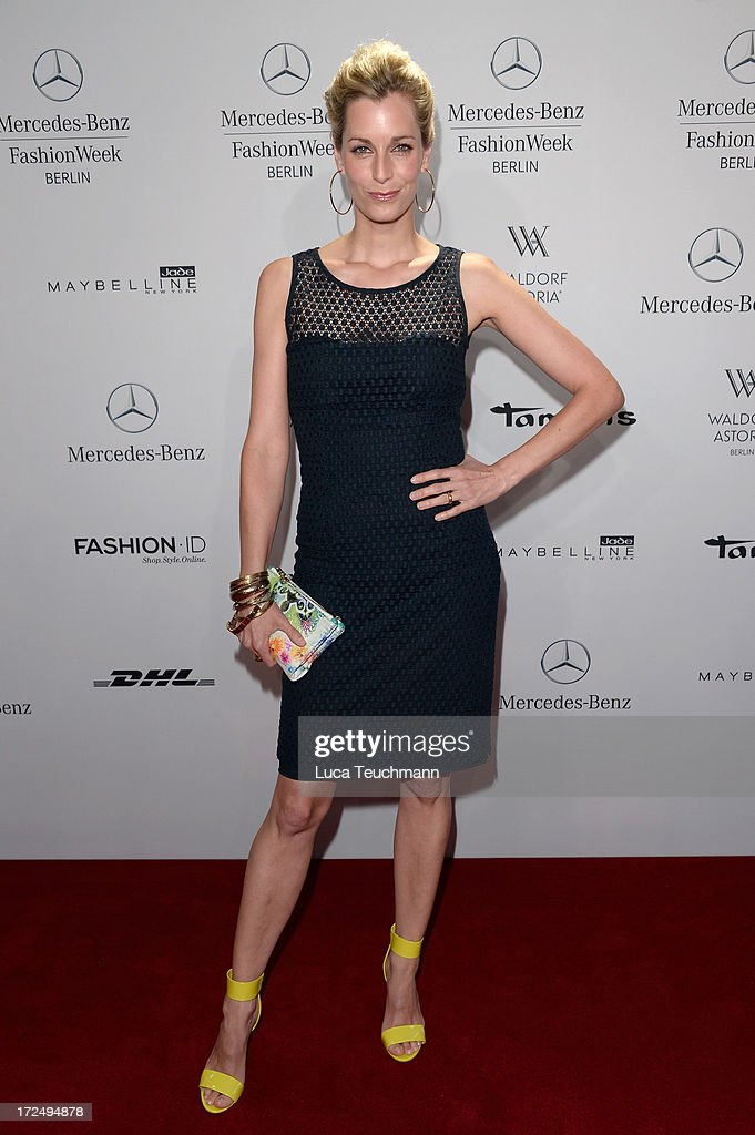 Tina Bordihn attends the Riani Show during Mercedes-Benz Fashion Week Spring/Summer 2014 at Brandenburg Gate on July 2, 2013 in Berlin, Germany.