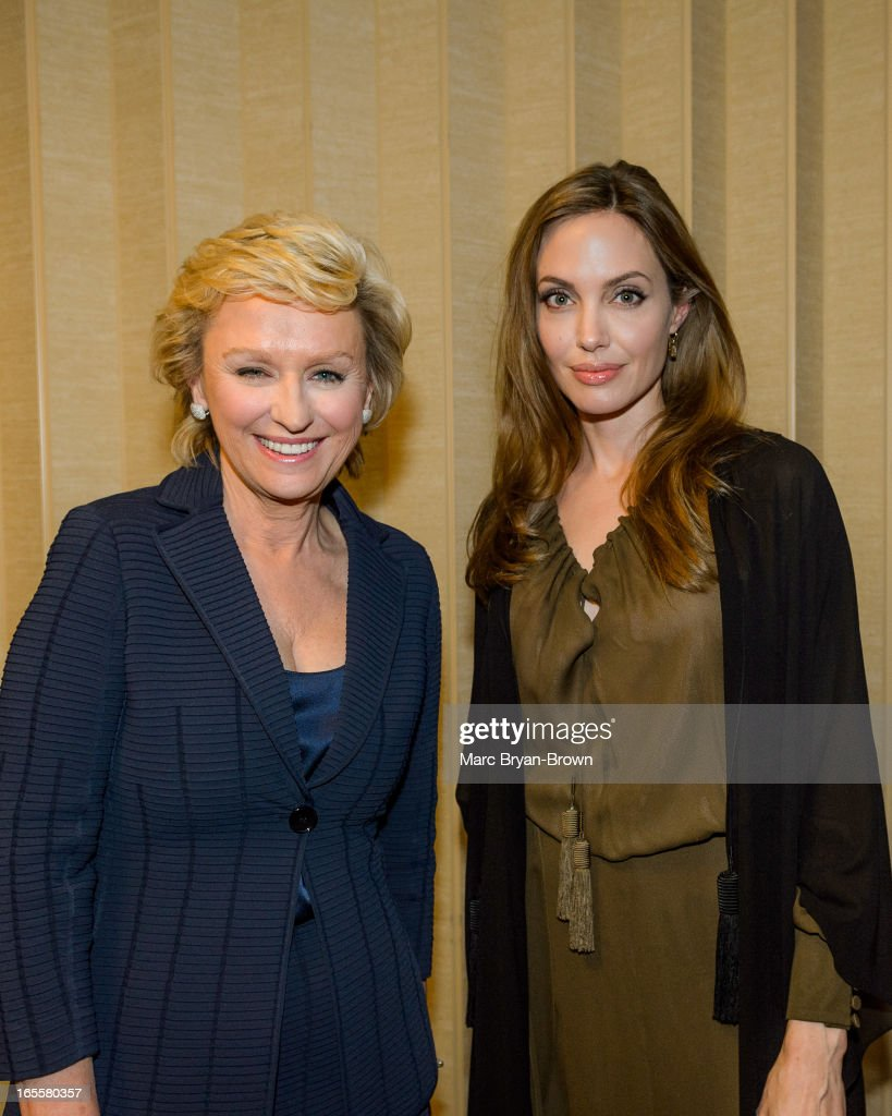 <a gi-track='captionPersonalityLinkClicked' href=/galleries/search?phrase=Tina+Brown+-+Journalist&family=editorial&specificpeople=209169 ng-click='$event.stopPropagation()'>Tina Brown</a> and <a gi-track='captionPersonalityLinkClicked' href=/galleries/search?phrase=Angelina+Jolie&family=editorial&specificpeople=201591 ng-click='$event.stopPropagation()'>Angelina Jolie</a> attend the Women in the World Summit 2013 on April 4, 2013 in New York, United States.