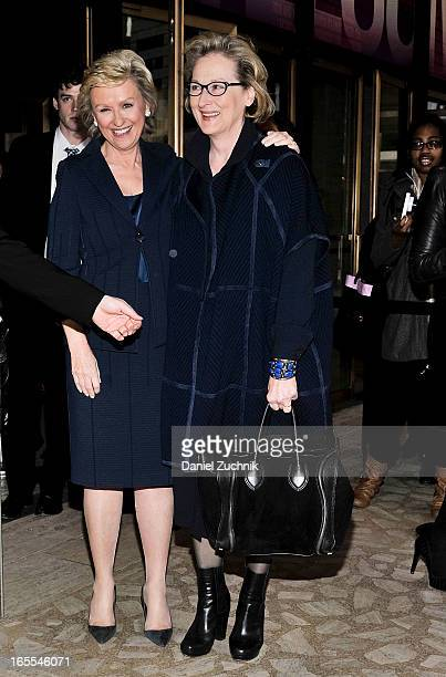 Tina Brown and Meryl Streep attend the Women in the World Summit 2013 on April 4 2013 in New York United States