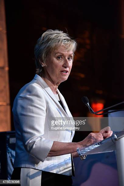 Tina Brown attends the Women For Afghan Women Hosts 14th Anniversary Gala at Gustavino's on May 28 2015 in New York City