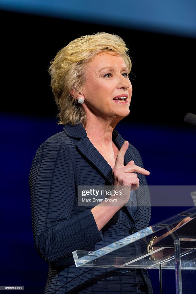 <a gi-track='captionPersonalityLinkClicked' href=/galleries/search?phrase=Tina+Brown+-+Journalist&family=editorial&specificpeople=209169 ng-click='$event.stopPropagation()'>Tina Brown</a> attends Women in the World Summit 2013 on April 4, 2013 in New York, United States.