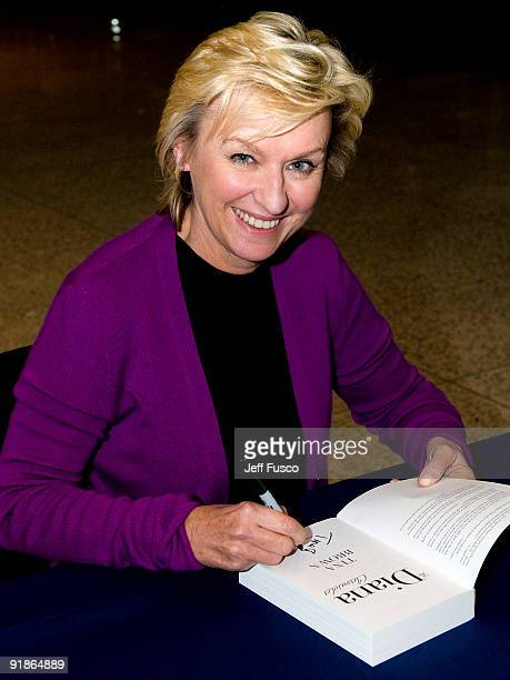 Tina Brown founder of the The Daily Beast signs her book 'The Diana Chronicles' at the National Constitution Center on October 13 2009 in...