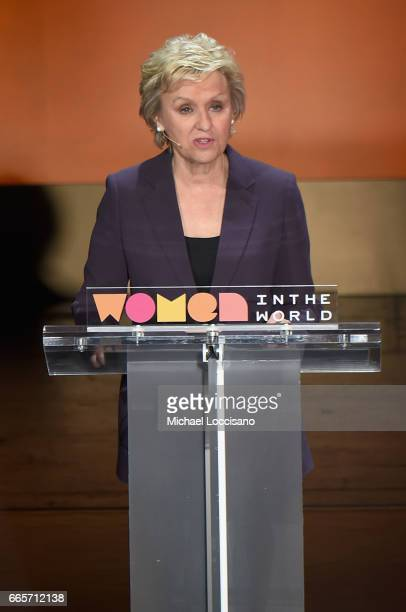 Tina Brown speaks at the Eighth Annual Women In The World Summit at Lincoln Center for the Performing Arts on April 7 2017 in New York City