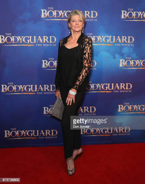 Tina Bursill arrives ahead of opening night of The Bodyguard The Musical at Lyric Theatre Star City on April 27 2017 in Sydney Australia