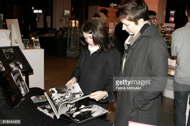 Tina Cassidy and Emily Kehe attend Ron Galella Book Launch Party For Man in the Mirror Michael Jackson and Viva I'Italia at PowerHouse Arena on...
