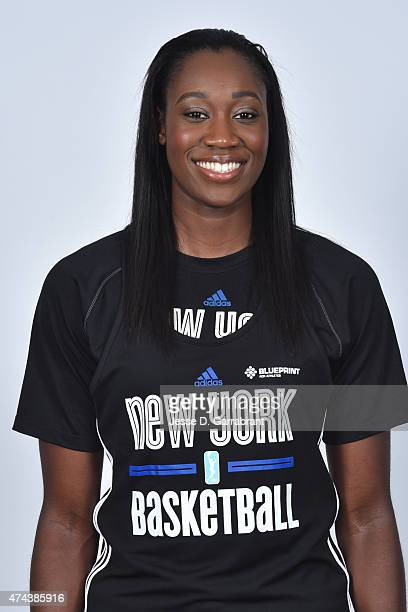Tina Charles of the New York Liberty poses for a head shot during media day on May 21 2015 at Madison Square Garden in New York New York NOTE TO USER...