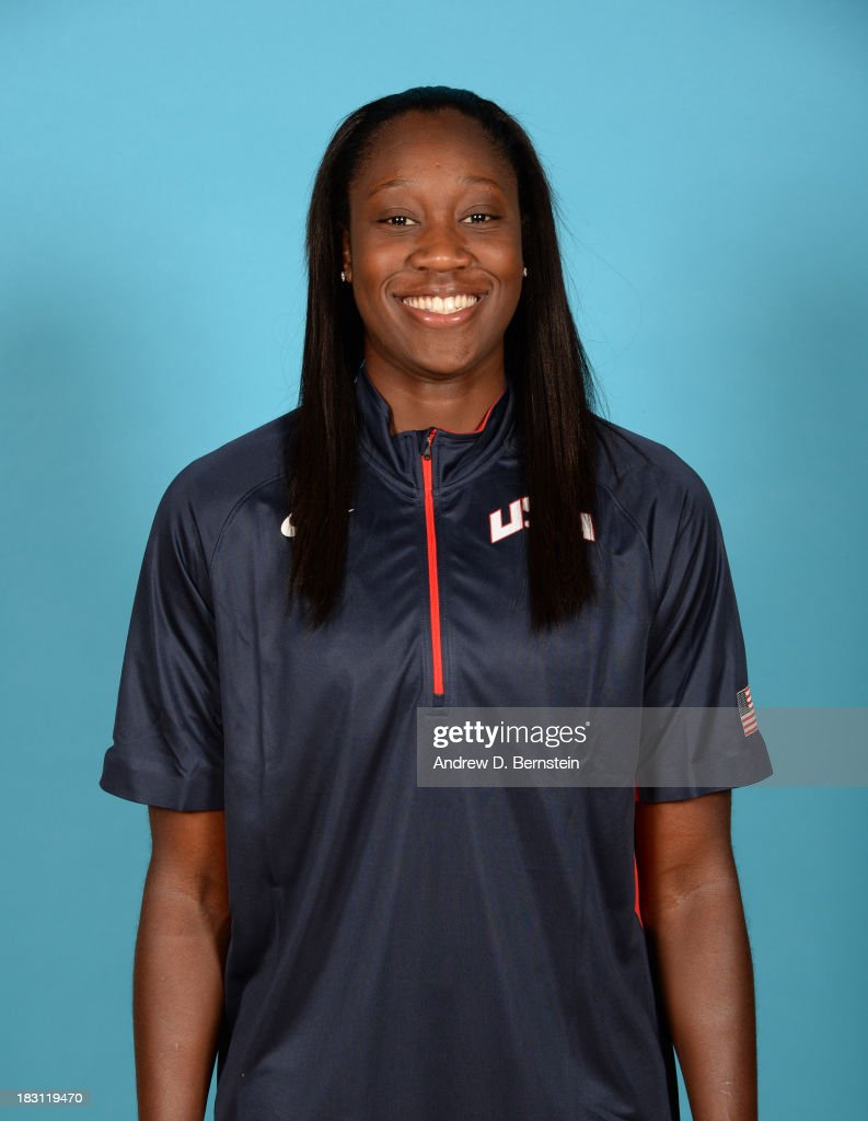 Tina Charles poses for a head shot during the USA Womens National Team Mini-Camp on October 4, 2013 at the Cox Pavilion in Las Vegas, Nevada.