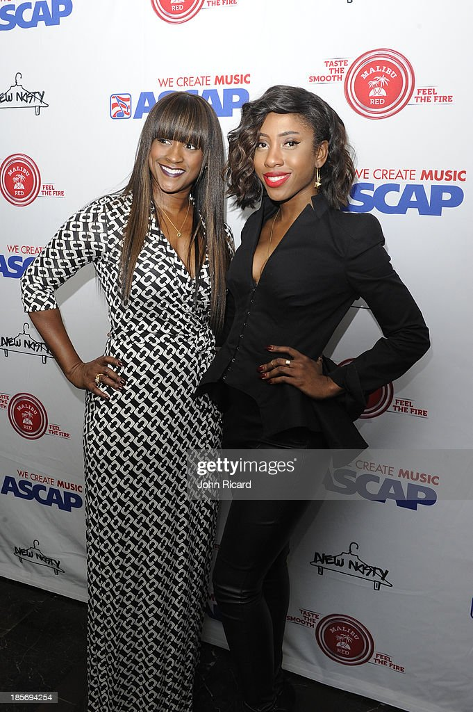 Tina Davis and <a gi-track='captionPersonalityLinkClicked' href=/galleries/search?phrase=Sevyn+Streeter&family=editorial&specificpeople=10081619 ng-click='$event.stopPropagation()'>Sevyn Streeter</a> arrive at Women Behind The Music at Lexicon on October 23, 2013 in New York City.