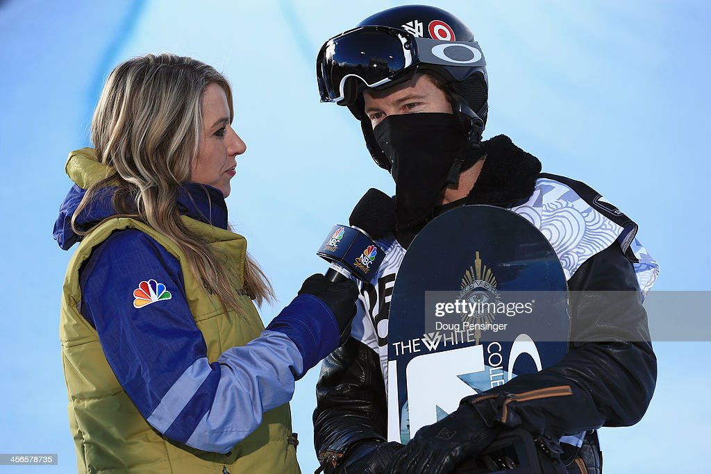 Tina Dixon, NBC Sports commentator Tina Dixon interviews Shaun White during the men's snowboard superpipe final at the Dew Tour iON Mountain Championships on December 14, 2013 in Breckenridge, Colorado.