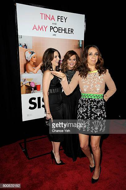 Tina Fey Amy Poehler and Maya Rudolph attend 'Sisters' New York premiere at Ziegfeld Theater on December 8 2015 in New York City