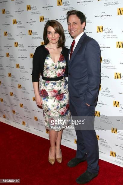 Tina Fey and Seth Meyers attend New York WOMEN IN COMMUNICATIONS Presents The 2010 MATRIX AWARDS at Waldorf Astoria on April 19 2010 in New York City