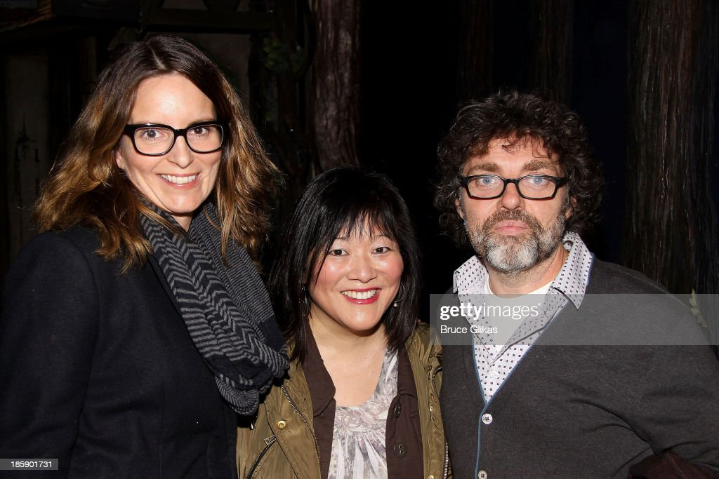 Tina Fey, Ann Harada and Jeff Richmond pose backstage at 'Cinderella' on Broadway at The Broadway Theater on October 25, 2013 in New York City.