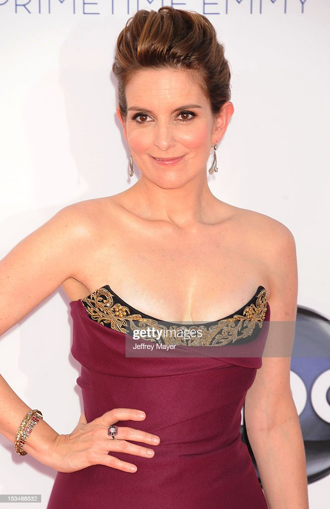 Tina Fey arrives at the 64th Primetime Emmy Awards at Nokia Theatre L.A. Live on September 23, 2012 in Los Angeles, California.