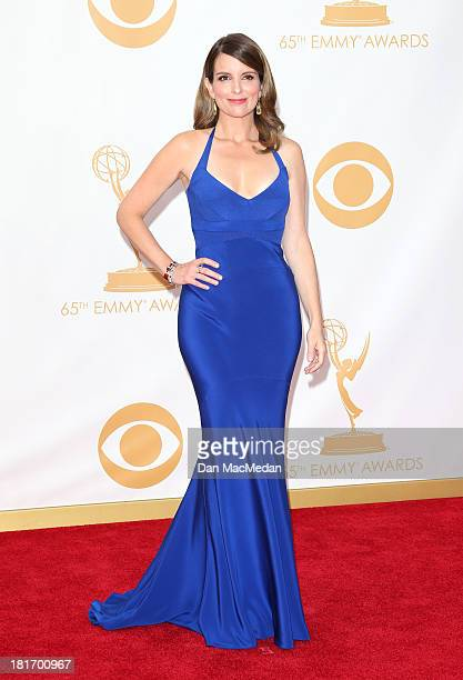 Tina Fey arrives at the 65th Annual Primetime Emmy Awards at Nokia Theatre LA Live on September 22 2013 in Los Angeles California