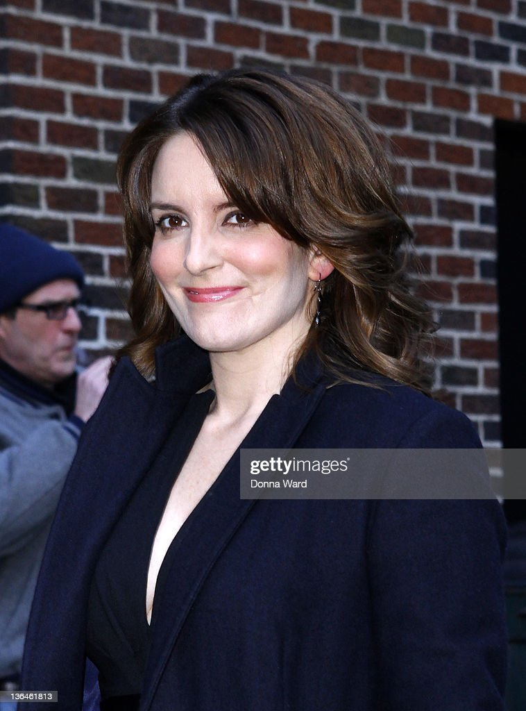 Tina Fey arrives for the 'Late Show with David Letterman' at Ed Sullivan Theater on January 5, 2012 in New York City.