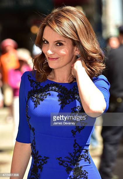 Tina Fey arrives to the 'Late Show with David Letterman' at the Ed Sullivan Theater on May 7 2015 in New York City