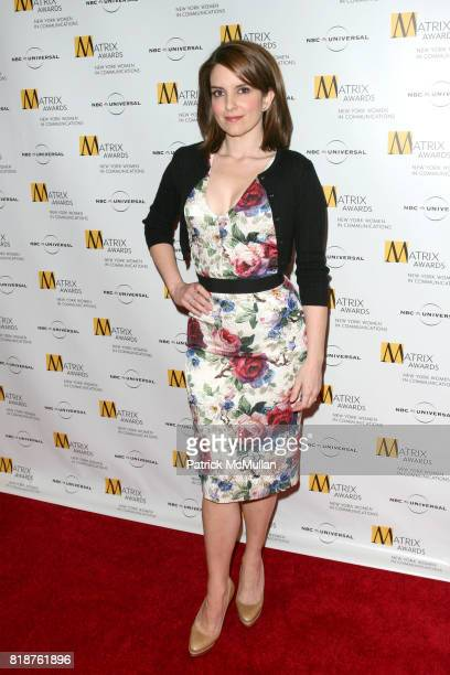 Tina Fey attends New York WOMEN IN COMMUNICATIONS Presents The 2010 MATRIX AWARDS at Waldorf Astoria on April 19 2010 in New York City