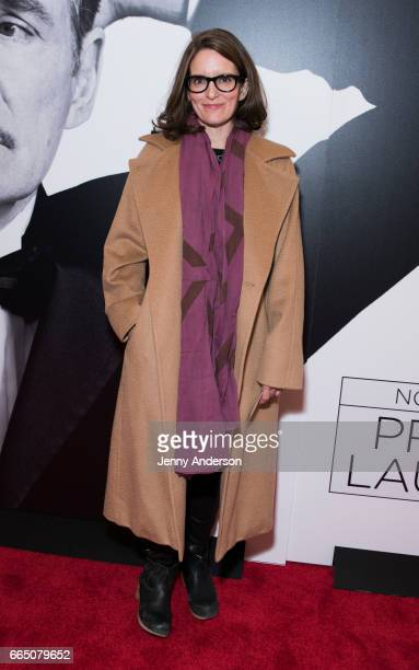 Tina Fey attends 'Present Laughter' opening at St James Theatre on April 5 2017 in New York City