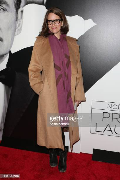Tina Fey attends 'Present Laughter' opening night at St James Theatre on April 5 2017 in New York City