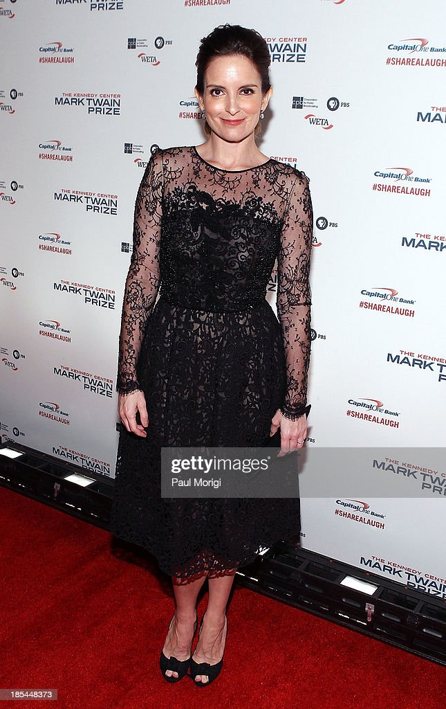 <a gi-track='captionPersonalityLinkClicked' href=/galleries/search?phrase=Tina+Fey&family=editorial&specificpeople=206753 ng-click='$event.stopPropagation()'>Tina Fey</a> attends The 16th Annual Mark Twain Prize For American Humor at John F. Kennedy Center for the Performing Arts on October 20, 2013 in Washington, DC.