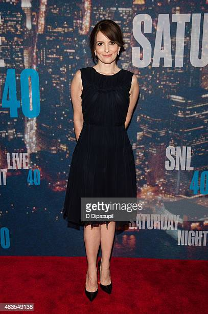 Tina Fey attends the SNL 40th Anniversary Celebration at Rockefeller Plaza on February 15 2015 in New York City